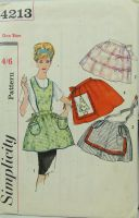 Simplicity 4213 Misses Set of One Yard Aprons